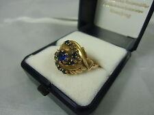 Damen Gold Ring 585er Gold 14 ct., russische Punzen, hellblaue- türkis farbene