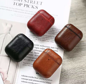 Leather AirPod Case Protective Skin Cover For AirPods 1 2 Earbuds