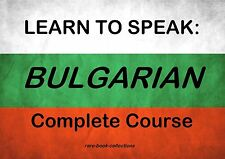 LEARN TO SPEAK BULGARIAN - LANGUAGE COURSE - 19 HRS AUDIO MP3 & 2 BOOKS ON DVD