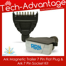 ARK MAGNETIC 7 PIN FLAT BOAT/CARAVAN/CAR/LANDCRUISER TRAILER PLUG & SOCKET KIT