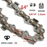 14'' 52 Metal Drive Links 3/8 Pitch Gauge 0.050'' Chainsaw Saw Mill Chain
