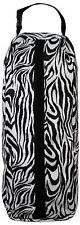 Showman Zebra Print Nylon Halter or Bridle Bag With Heavy Duty Zipper