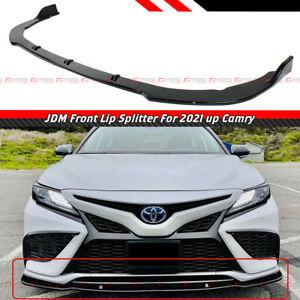 FOR 2021-22 TOYOTA CAMRY SE XSE JDM STYLE GLOSS BLACK FRONT BUMPER LIP SPLITTER