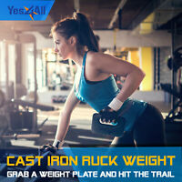 Cast Iron Ruck Weights Available 10 - 60 lbs Swing Kettlebells Dumbbells Gym