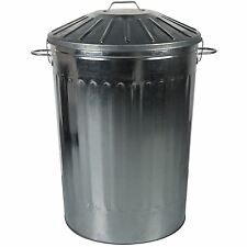 125 Litre Extra Large Metal Dustbin Home Garden Unit Bin Special Locking Lid