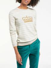 BNWT Boden Maisie Crown Wool/Cotton Blend Stripe Jumper - Small (UK 10) RRP £75