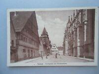 Ansichtskarte Gmünd Kirchplatz mit Glockenturm 1910 Straßenzug