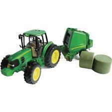 BRAND NEW BRITAINS BIG FARM JOHN DEERE 6930 TRACTOR & ROUND BALER SET