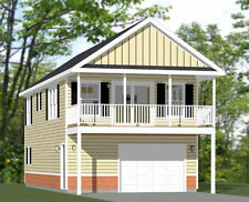 20x40 House -- 2 Bedroom 1.5 Bath -- 1,053 sq ft -- PDF Floor Plan -- Model 6B