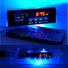 5V / 12V carte de décodeur audio MP3 FM numérique à LED bleu radio télécommande pour voiture