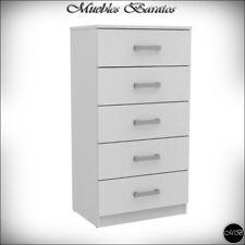 Sinfonier blanco Cajonera 5 cajones dormitorio sinfonieres comodas mesita ref-50