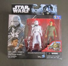"""First Order Snowtrooper Officer vs Poe Dameron STAR WARS Rogue One R1 3.75"""" MOC"""