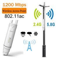 5.8G WLAN-Zugangspunkt 1200 Mbit Bit Repeater Outdoor Wasserdichter WiFi AP PoE