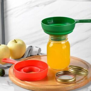 Silicone Telescopic Funnel Jam Funnel Filling Wide Mouth Funnel Kitchen Tool