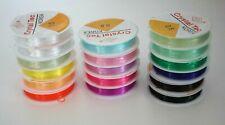 Silikon Band Gummiband für Basteln Schmuk 0,6  0,8 1,0 mm Gummi elastisch