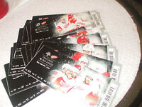 2016 DETROIT RED WINGS TICKET LOT OF 22 - approx 1/2 THE SEASON  VGC L@@K!