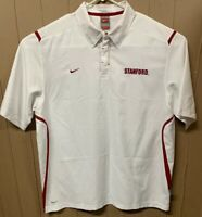 Nike Fit Dry Team Stanford Cardinal Polo; Mens Large; Swoosh Logo; Spelled Out