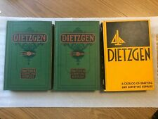 3 Dietzgen Drafting Surveying Supplies Catalog 1928, 1936 & 1949