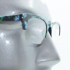 Retro Blue Floral Flower Frame 60's Bottomless Reading Glasses +1.25 Strength