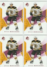 2018-19 SP Authentic Red Brad Marchand 4 Card Lot