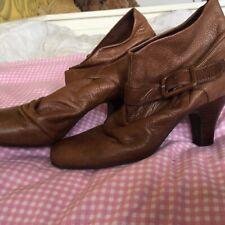 Faith Tan Leather Ankle Boot Size 6