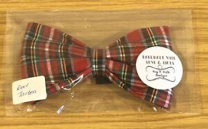 Tartan Dog Bow Tie Handmade
