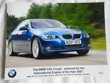 BMW 335i COUPE FOLLETO de mayo de 2007 Foto De Prensa