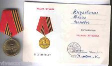 Russia Decorazione 100 anniversario 1895 - 1995 general Sucof documento