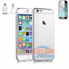 "Funda gel TPU 100 % TRANSPARENTE + protector + cargador 3EN1 IPHONE 6 5.5"" PLUS"