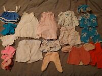 18 PIECE VINTAGE BABY DOLL CLOTHES LOT