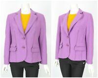 Womens Basler Virgin Wool Blazer Jacket Purple Coat Pocket Short Size 40 / UK14