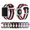 Woven Nylon Stripe iWatch Band Strap fr Apple Watch Series 4 3 2 1 38/40/42/44mm