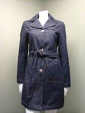 Old Navy Women's Blue Denim Coat Jacket W/ Belt~Size S