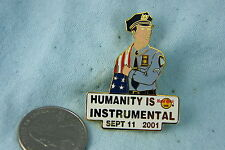 HARD ROCK CAFE PIN HUMANITY IS INSTRUMENTAL SEPT. 11, 2001