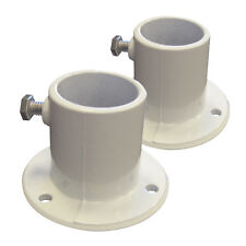 Pair Aluminum Deck Flange for Swimming Pool Ladder - 1.5 inch