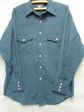 W3428 Falcon Bay Green/Black Plaid Pearl Snap Western Shirt Men M