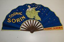 Ventaglio Pubblicità Antico Di Carta Liquore Trattoria Vintage Cognac Sorin