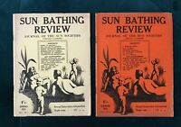 Sun Bathing Review (1933) - First 2 Issues - Nudist Engraving - Robert Giddings