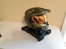 HALO 3 LEGENDARY EDITION MASTER CHIEF COLLECTABLE HELMET + STAND in box No Game