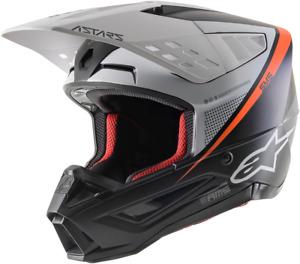 Alpinestars SM5 Rayon Helmet XL Black/White/Orange 8304121-1242-XL