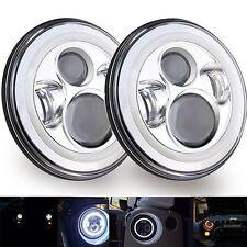 7 Inch Cree Chrome LEDHeadlightsJeepWranglerJK TJ LJ CJHummer H1 H2 Ford