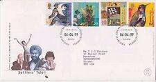 GB Royal Mail FDC primo giorno copertura 1999 coloni STORIA TIMBRO SET UFFICIO PMK