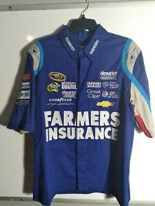 JH Design Nascar KASEY KAHNE/ Farmers Insurance Embroidered #5 Mens Small Shirt
