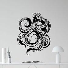 Octopus Wall Decal Tentacles Vinyl Sticker Bathroom Decor Poster Mural 189hor