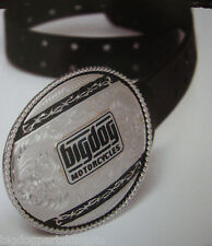 BIG DOG MONTANA SILVERSMITH BELT BUCKLE STERLING SILVER BARB WIRE W/ LOGO BDM