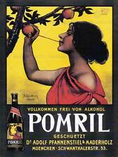 COMMERCIAL ADVERT POMRIL APPLE DRINK GERMANY POSTER ART PRINT PICTURE BB1986B