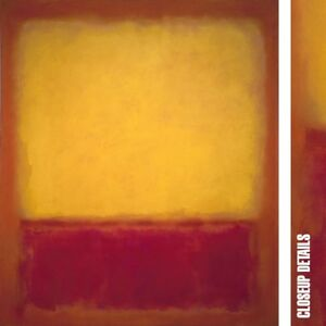 """30W""""x35H"""" YELLOW OVER PURPLE RED, 1956 by MARK ROTHKO - NUMBER CHOICES of CANVAS"""