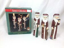 Santas Collection Santa Candle Holders Set of 3 in Original Boxes