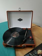 Portable Turntable Retro with PC Intake Record Player Black
