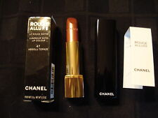Chanel  ROUGE ALLURE LUMINOUS SATIN LIP COLOR 47 ABSOLU TOPAZE NEW IN RETAIL BOX